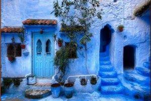 marrocos cidade azul
